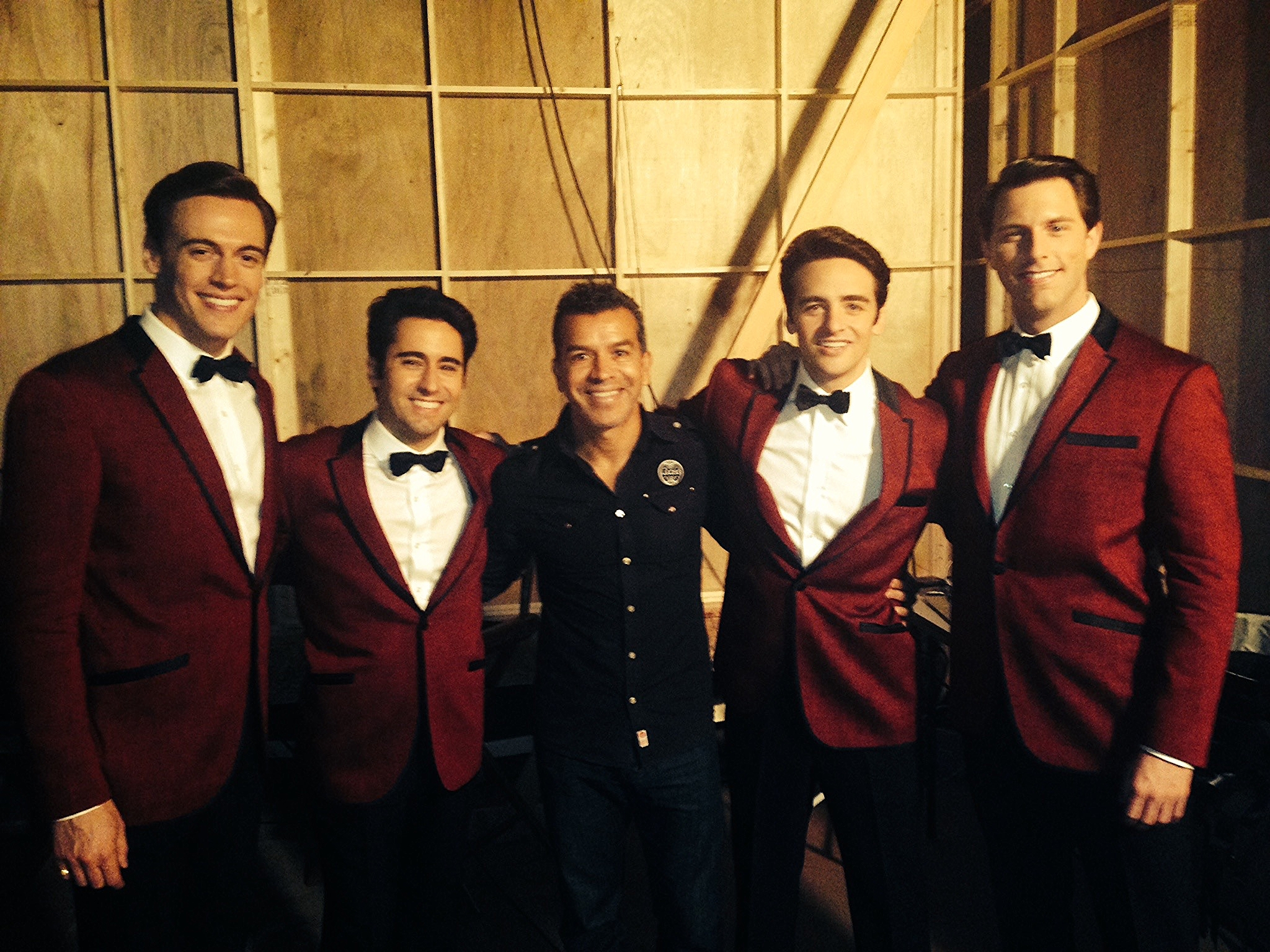 """My last day on setwe shot """"Sherry."""" Pictured here with Sergio Trujillo, our choreographer and the gents"""