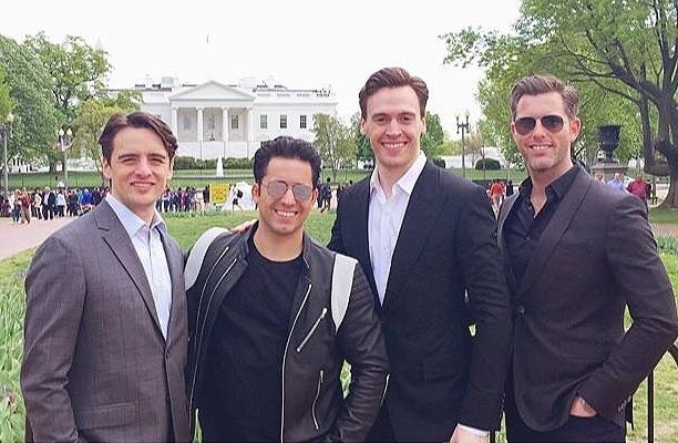 Just after sound check at the White House