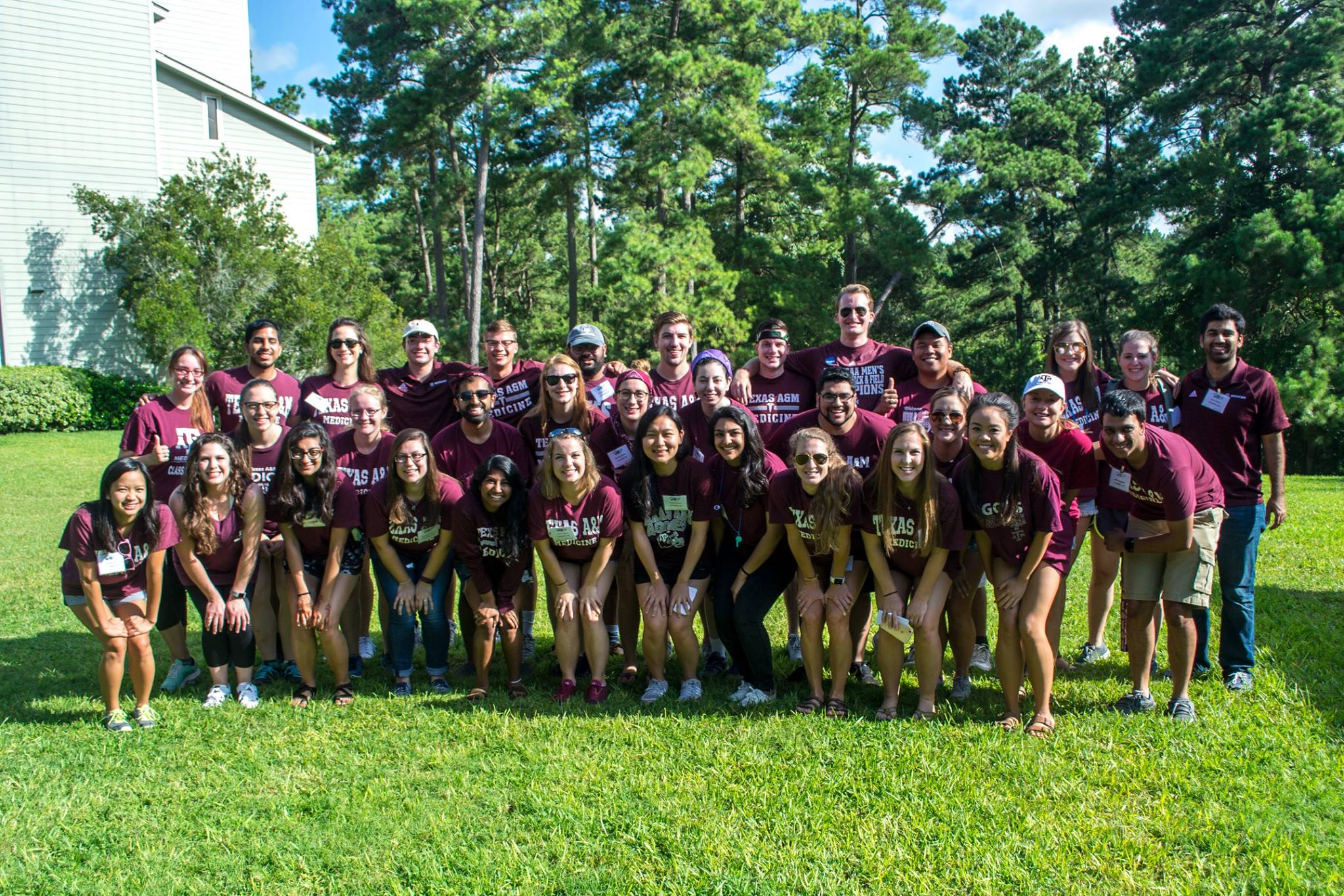 Disorientation Camp counselors (M2s) during the summer. Photo by Sarah Fulton, M2.