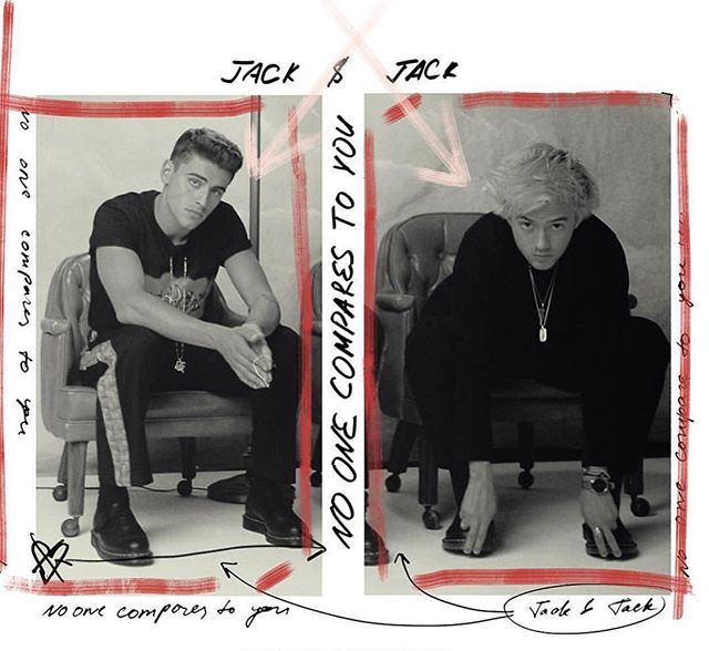 Huge congratulations to @jackandjack for the release of 'No One Compares to You', super heavy!