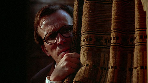 Peter Weller as haunted writer Bill Lee in Cronenberg's  Naked Lunch  (1991).