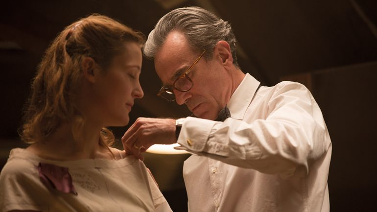 """Kiss Me, My Girl: The Intimacy of Dominance and Submission in Phantom Thread - by Ellie Emiline Miles""""Dominance and submission, or D/s, as presented in Phantom Thread transcends the obvious stereotypes of how it's usually been portrayed on screen. There are no sex scenes […] There are no blindfolds or ball gags, no riding crops or spreader bars, and Alma never gets spanked for being a 'bad girl.' The film speaks a more subtle and elegant language of D/s that encompasses a broader definition of how the dynamic can exist."""""""