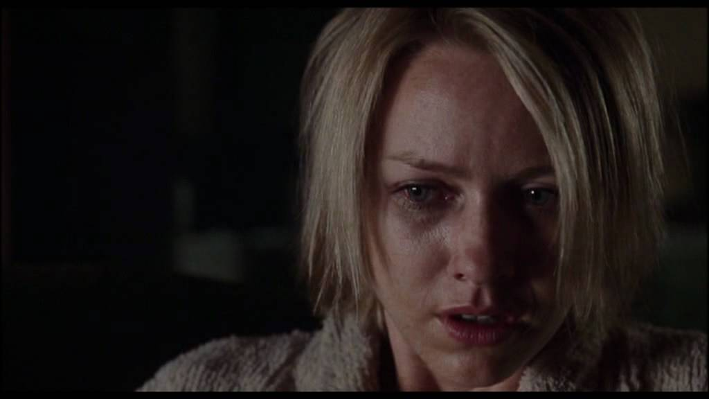 Naomi Watts as Betty/Diane, a delusional extra who suffers a psychotic break after being jilted by her polyamorous lover Camilla/Rita (Laura Elena Harring), a more successful actress in David Lynch's  Mulholland Drive  (2001).