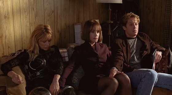Gabrielle (Rosanna Arquette), Helen (Holly Hunter) and James (James Spader) give each other a helping hand in a group masturbation scene from Cronenberg's  Crash  (1996).