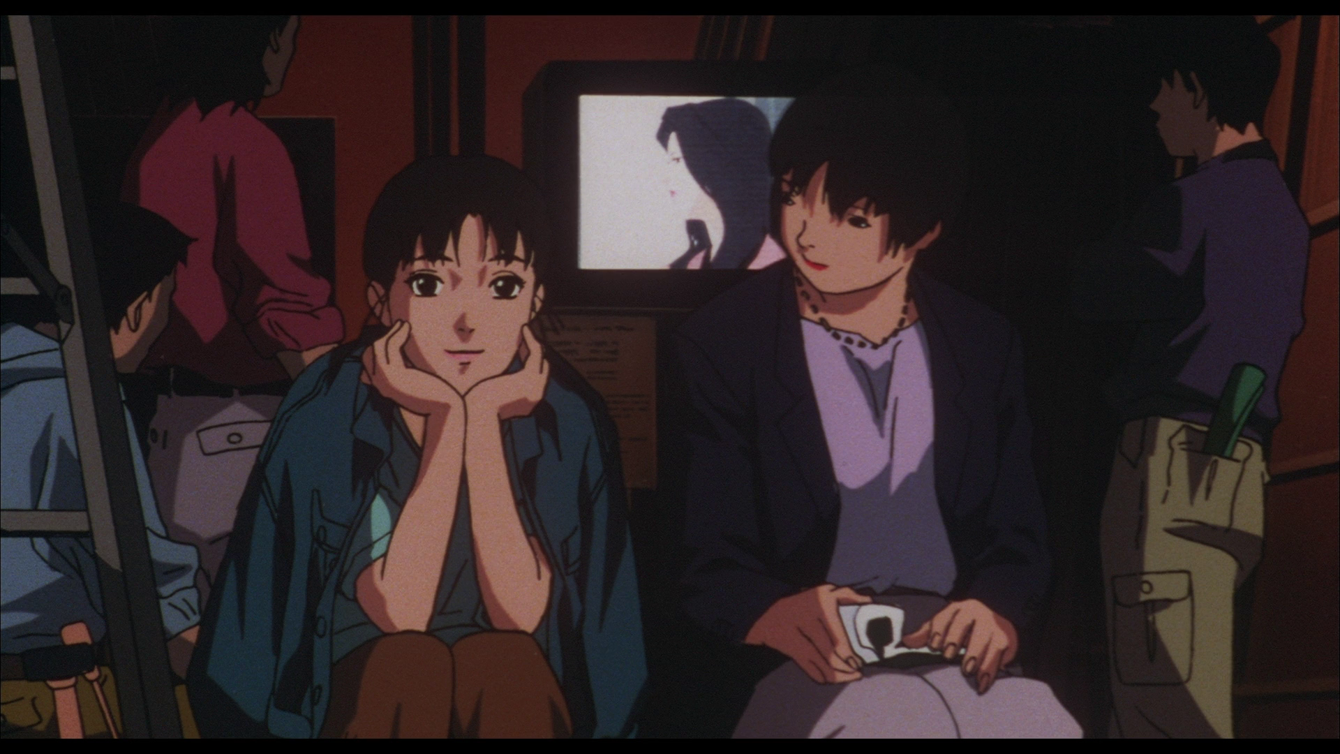 Pop idol turned actress Mima and her maternal agent & manager Rumi in  Perfect Blue.