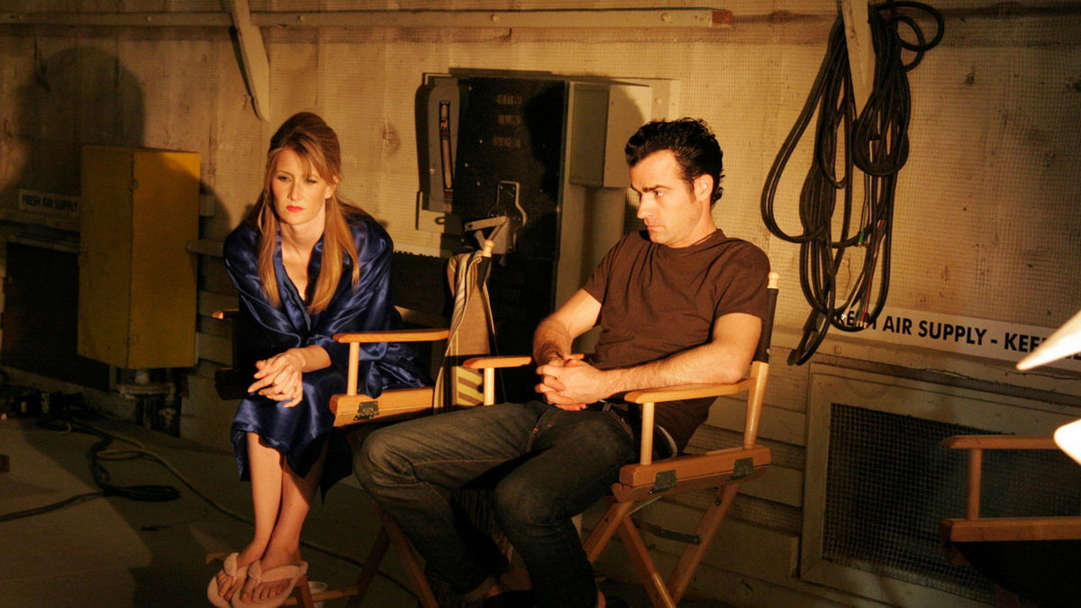 Nikki (Laura Dern) and Devon (Justin Theroux) on the  On High in Blue Tomorrows  set in Lynch's  Inland Empire .