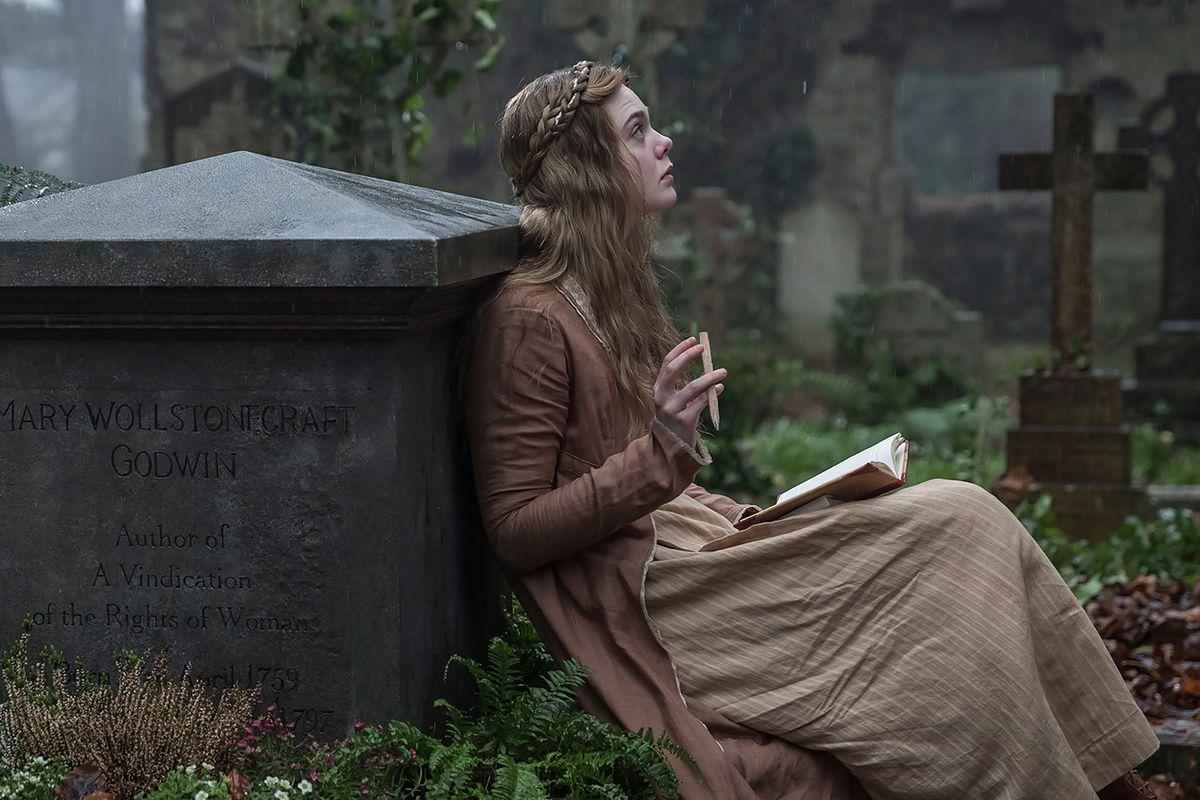 Elle Fanning as the titular character in Haifaa Al-Mansoor's  Mary Shelley.