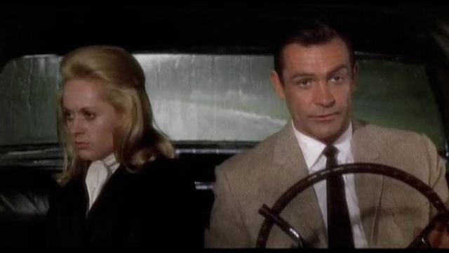 Marnie (Tippi Hedren) and Mark (Sean Connery) in  Marnie  (1964).