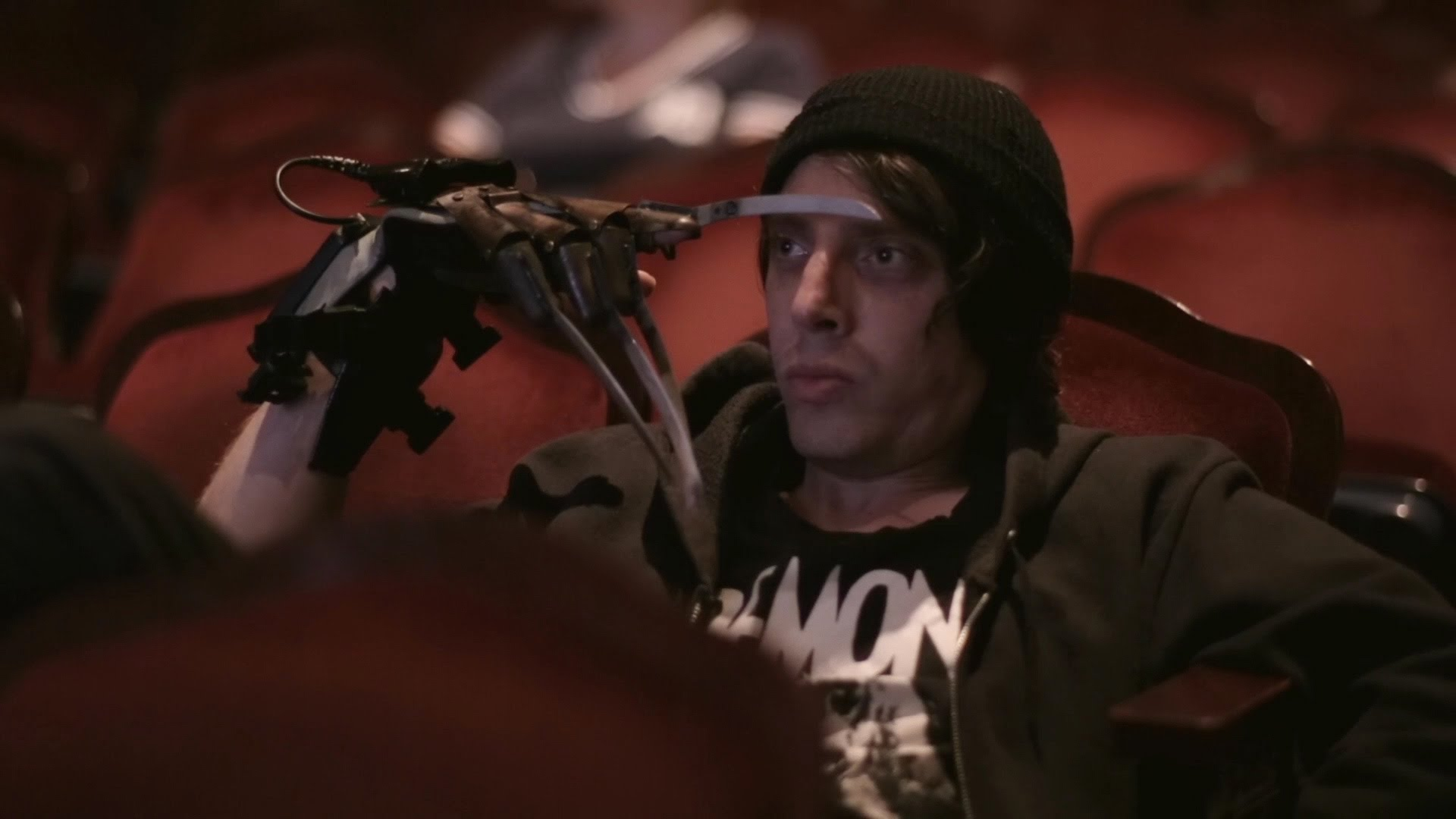 Marty Jackitansky (Joshua Burge) does a Travis Bickle in Joel Potrkus' cult classic  Buzzard  (2014).