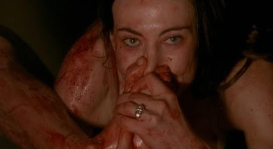 Writer-director-star Marina De Van in her tale of obsessive self-mutiliation,  In My Skin  ( Dans ma peau , 2002).
