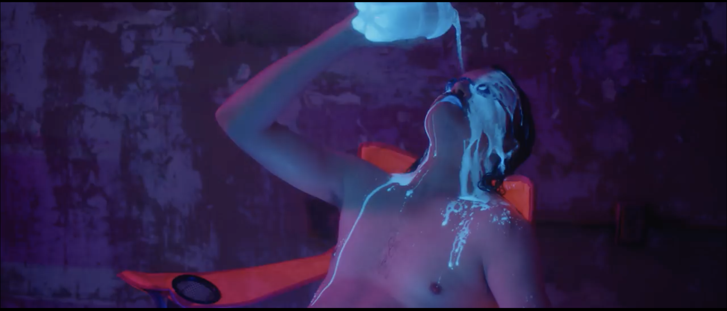 """Pour it on me: Galen Howard gets wet & messy in  The Smashing Pumpkins' """"Solara"""""""