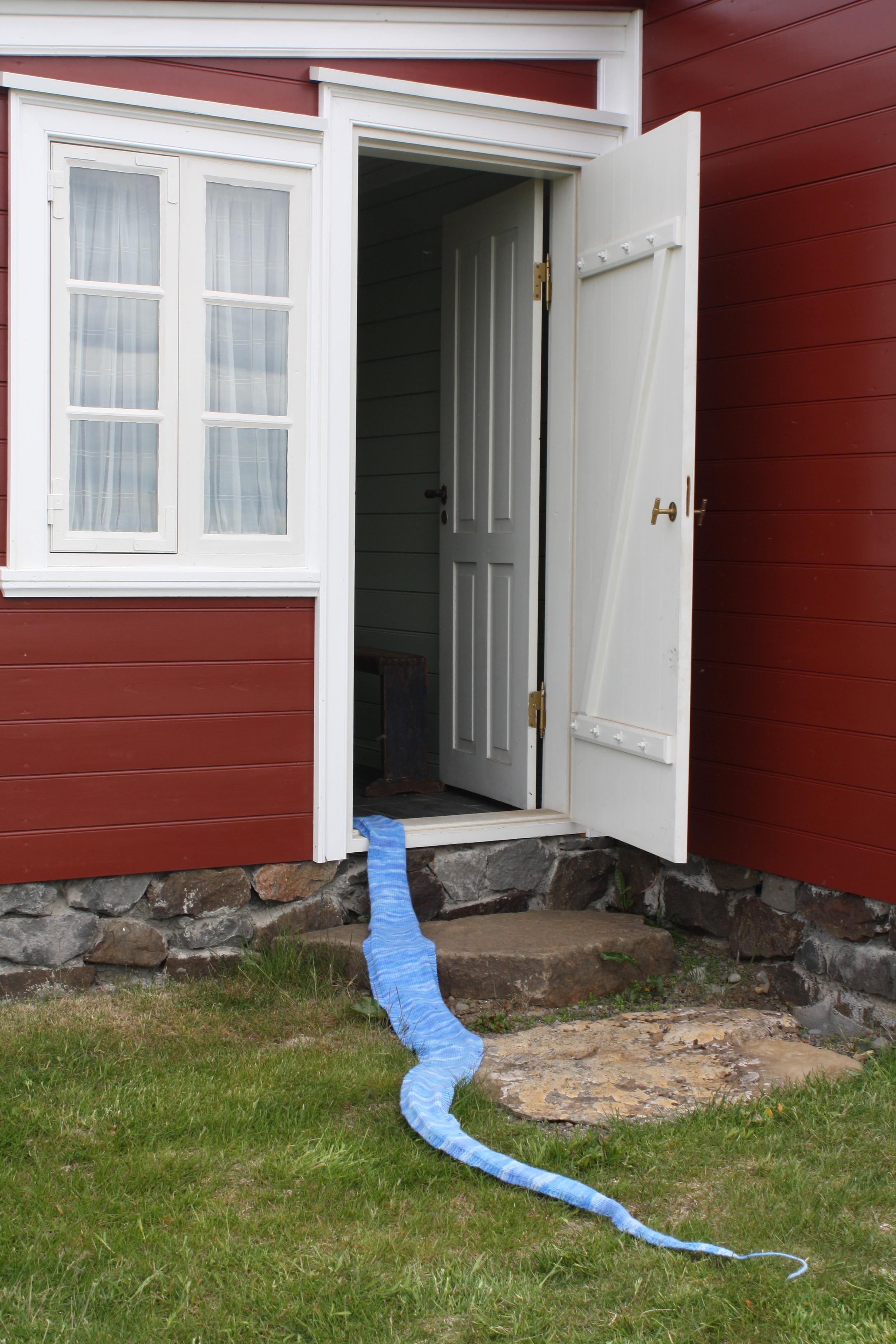 Installation at the Arnes Museum, Skagastrond, Iceland, June 2011
