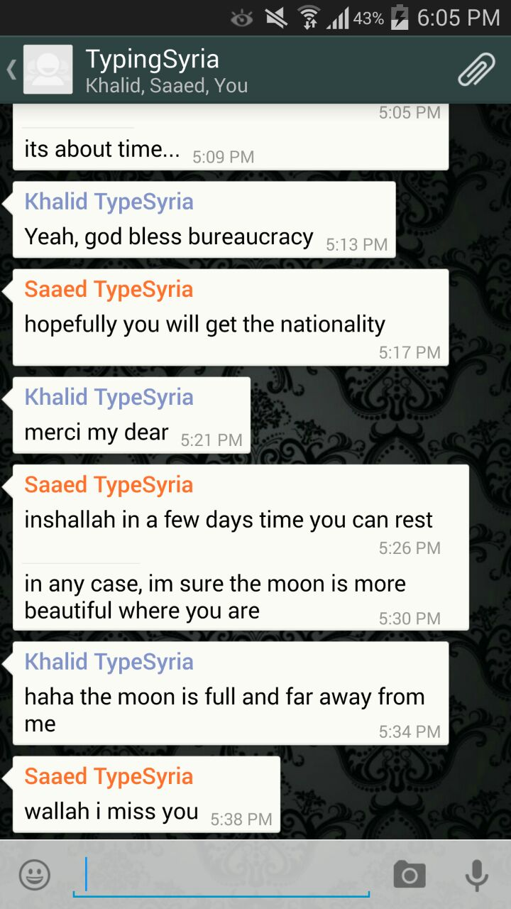 """4/2/15, 9:18:30 PM: """"The moon is full and far away from me""""  Can't really comment more on that"""