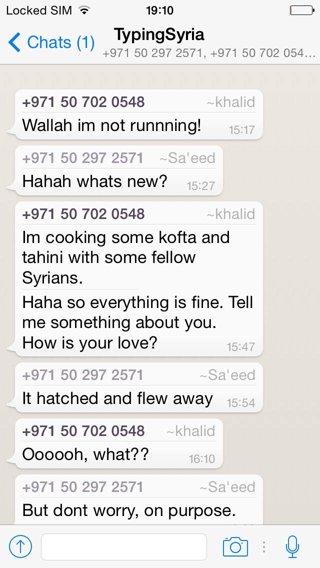 4/10/15, 7:12:50 PM: 47: I feel like now they have become a bit like friends. I'm starting to develop affection towards them, it feels nice when they message. Maybe a bit condescending?   -Age 21, United Arab Emirates
