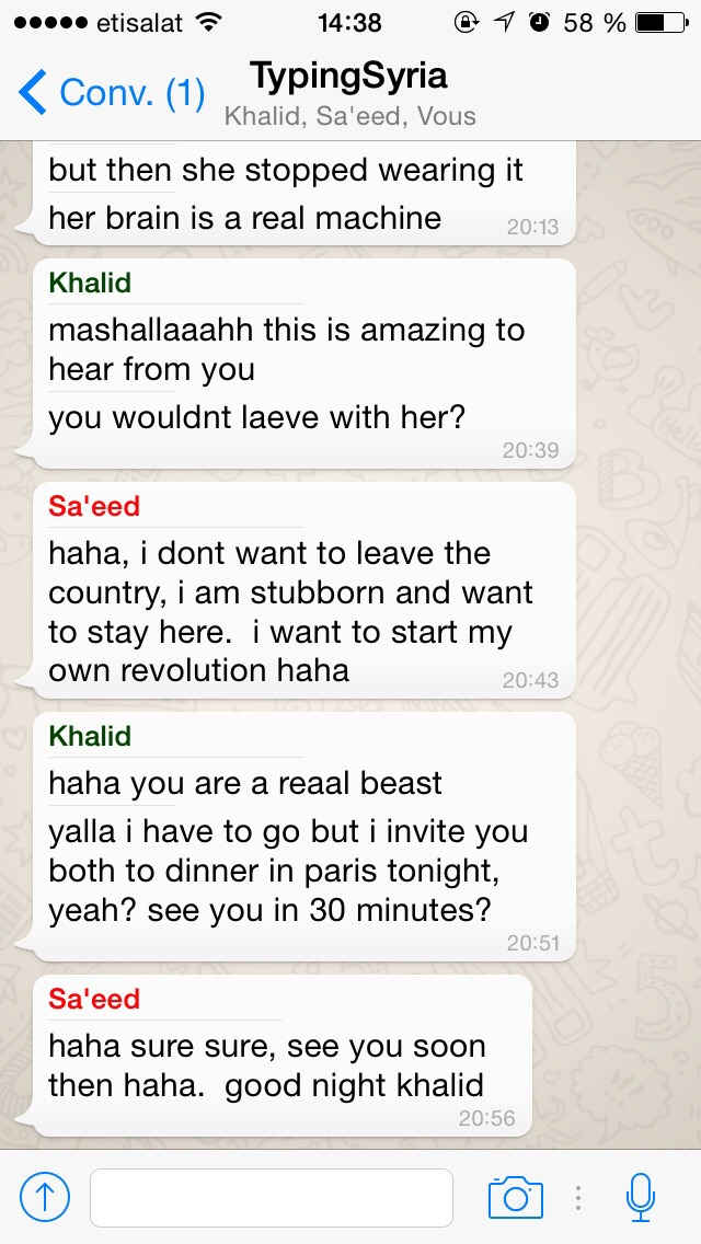 4/5/15, 2:39:01 PM: The use of humor is just so inspiring here.  - Age 18, United Arab Emirates