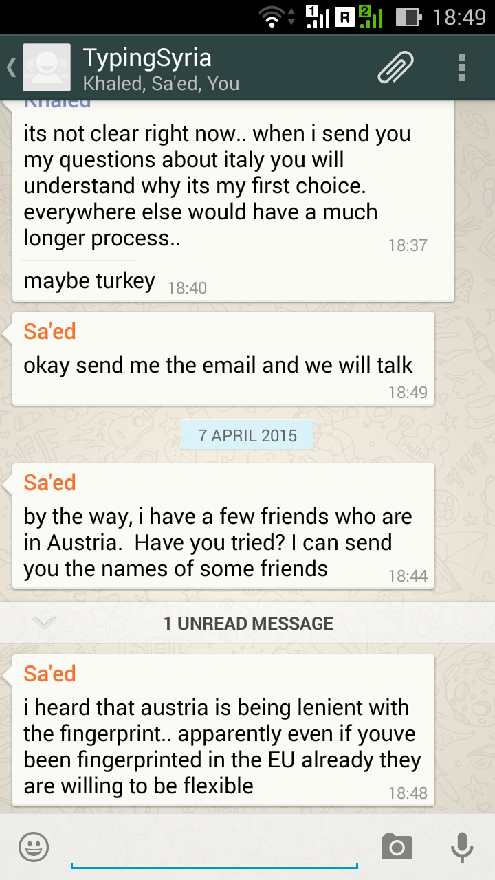 4/7/15, 8:50:22 PM: The last message somehow… as before I felt too familiar with the story but now I am being lost and intrigued at the same time