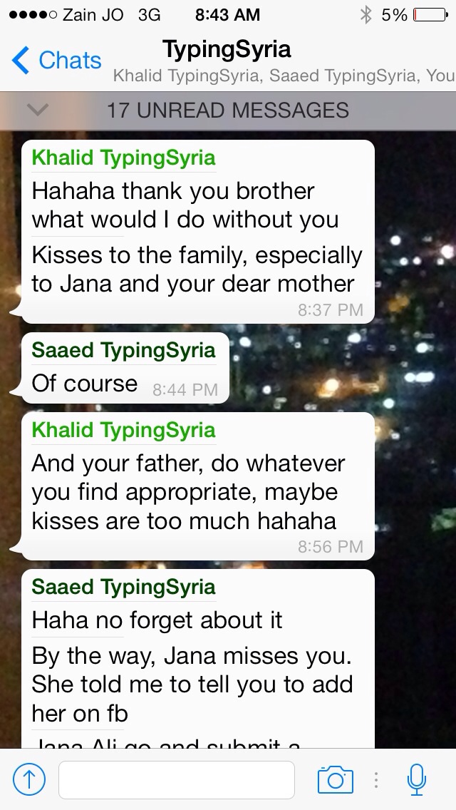 4/15/15, 9:43:33 AM: I don't think an Arab male would ever send kisses to his friends sister!!!   -Age 22, Jordan