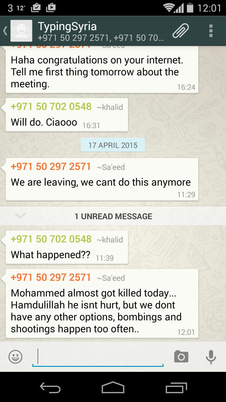 4/18/15, 10:50:43 PM: Here's where shit gets real. First time we've seen Saeed lose his sense of humour. V abrupt.   - Age 30, United Kingdom
