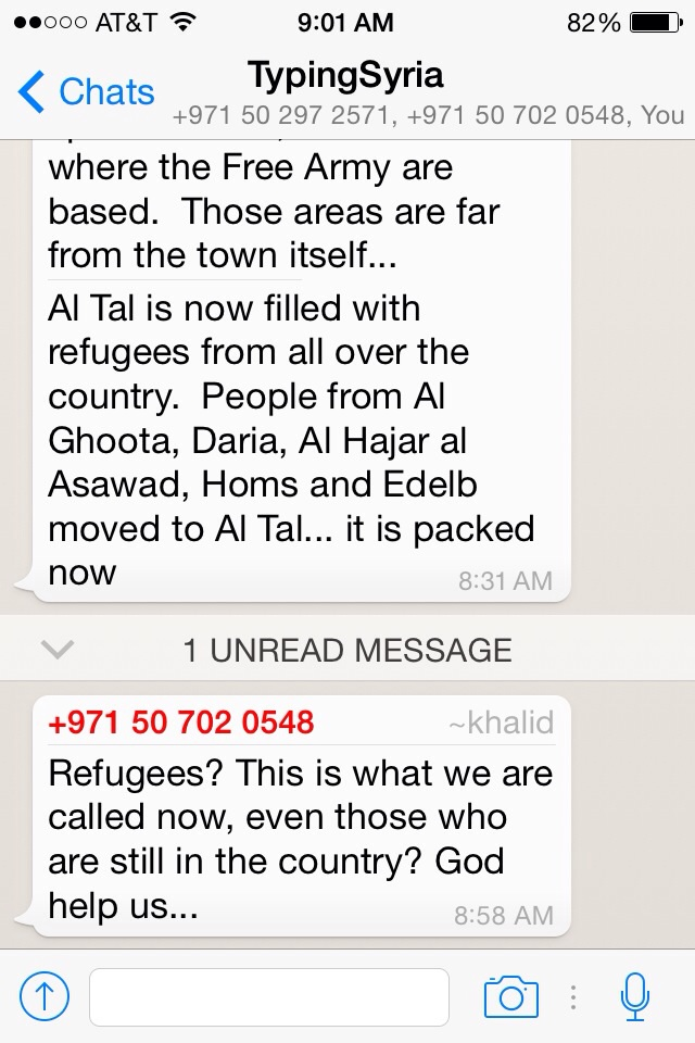 """4/17/15, 5:01:18 PM: Khalid's response illustrates how simple it is to label those in their situation as """"refugees,"""" which now seems like a disservice after having read their texts   -Age 22, United States"""