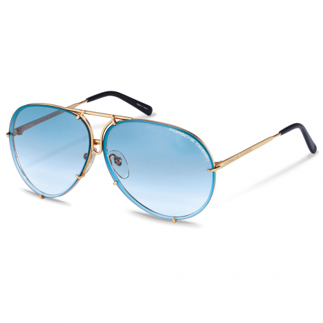 8478 2019 Limited edition - In the limited-edition color Blue Gradient, teardrop-shaped lenses can be quickly and easily exchanged to adapt to different light conditions.with a pink and gold interchangeable lens