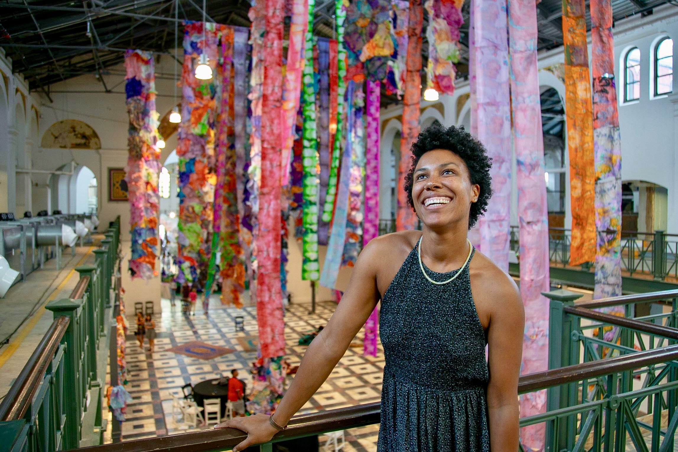 Maya Freelon was commissioned by  Halcyon  to create a monumental sculpture for  By The People  at the  Smithsonian Arts and Industries Building . Photo Credit: Jeremy Mines