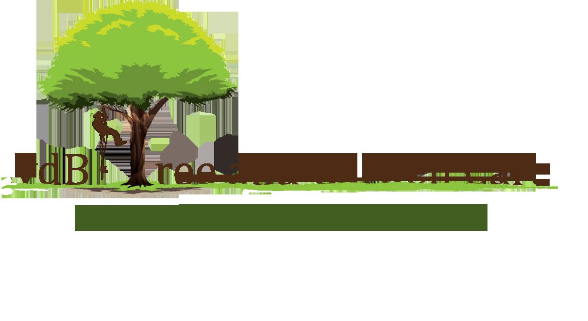 vdB Tree and Garden Care logo