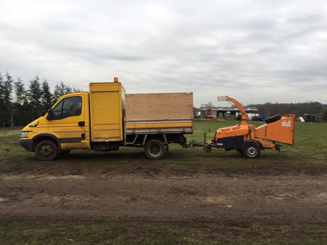 We also hire out a van, chipper and operator per hour or per day.