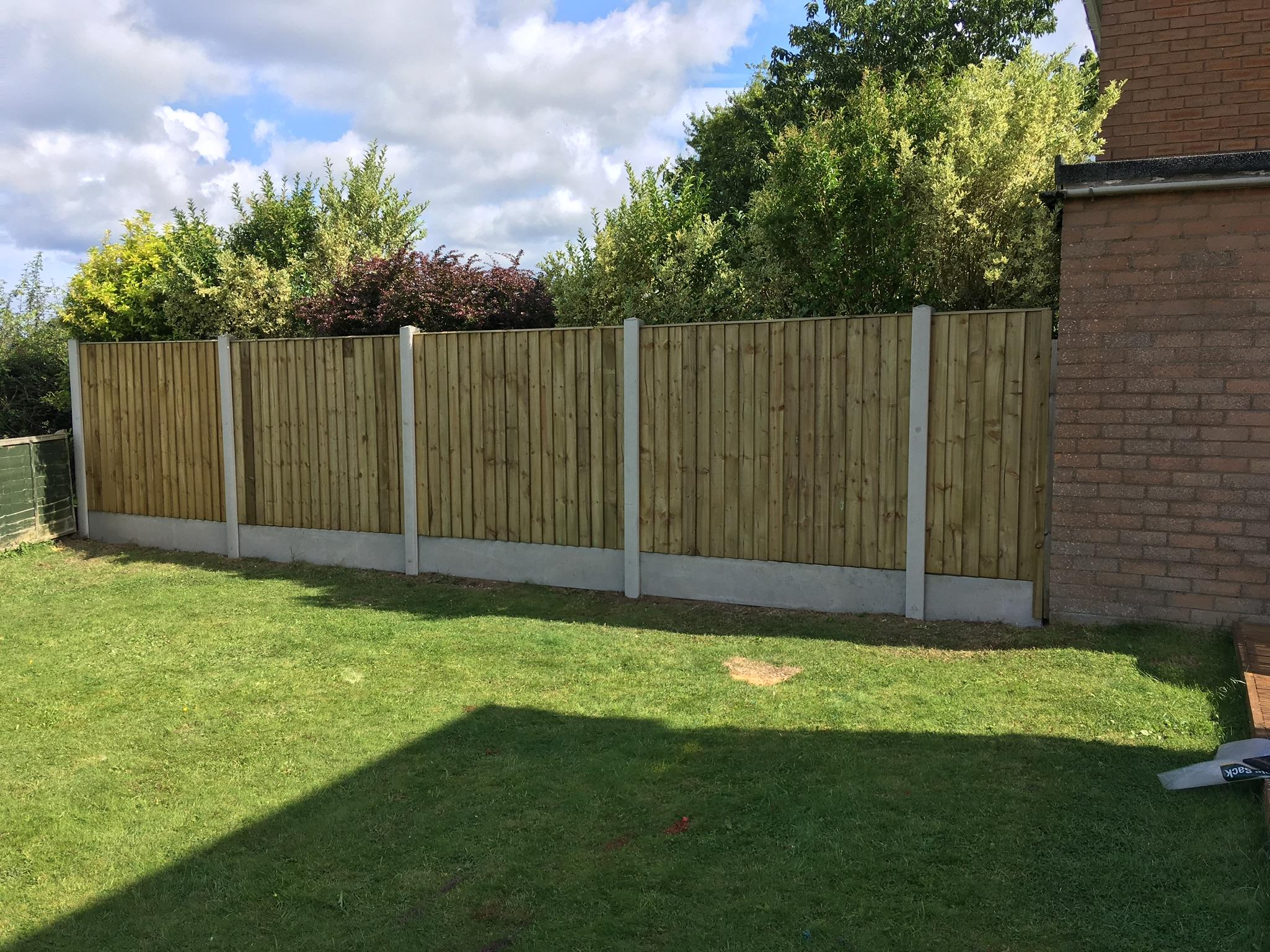 New panel fence installation chirk, wrexham, oswestry.JPG
