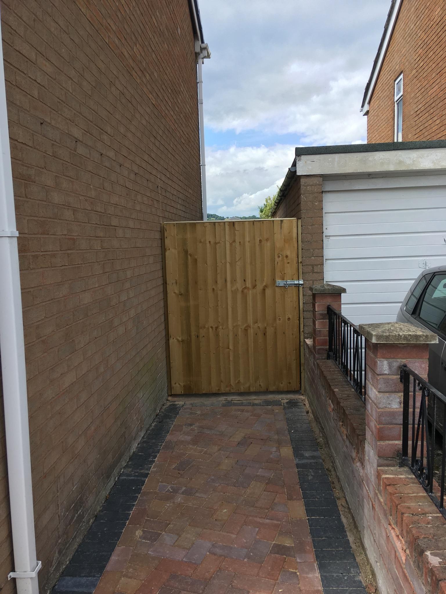 Garden gate building chirk, wrexham Oswestry.JPG