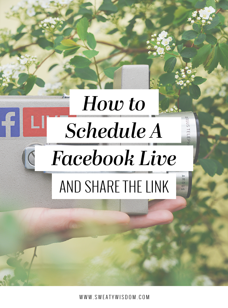 How to Schedule a Facebook Live Ahead of Time and Share the Link - Facebook Marketing - Facebook for Small Business – Facebook Live tips and tricks – How to Market Your Business on Facebook 2018 - Facebook 2018 Algorithm Updates - sweatywisdom.com