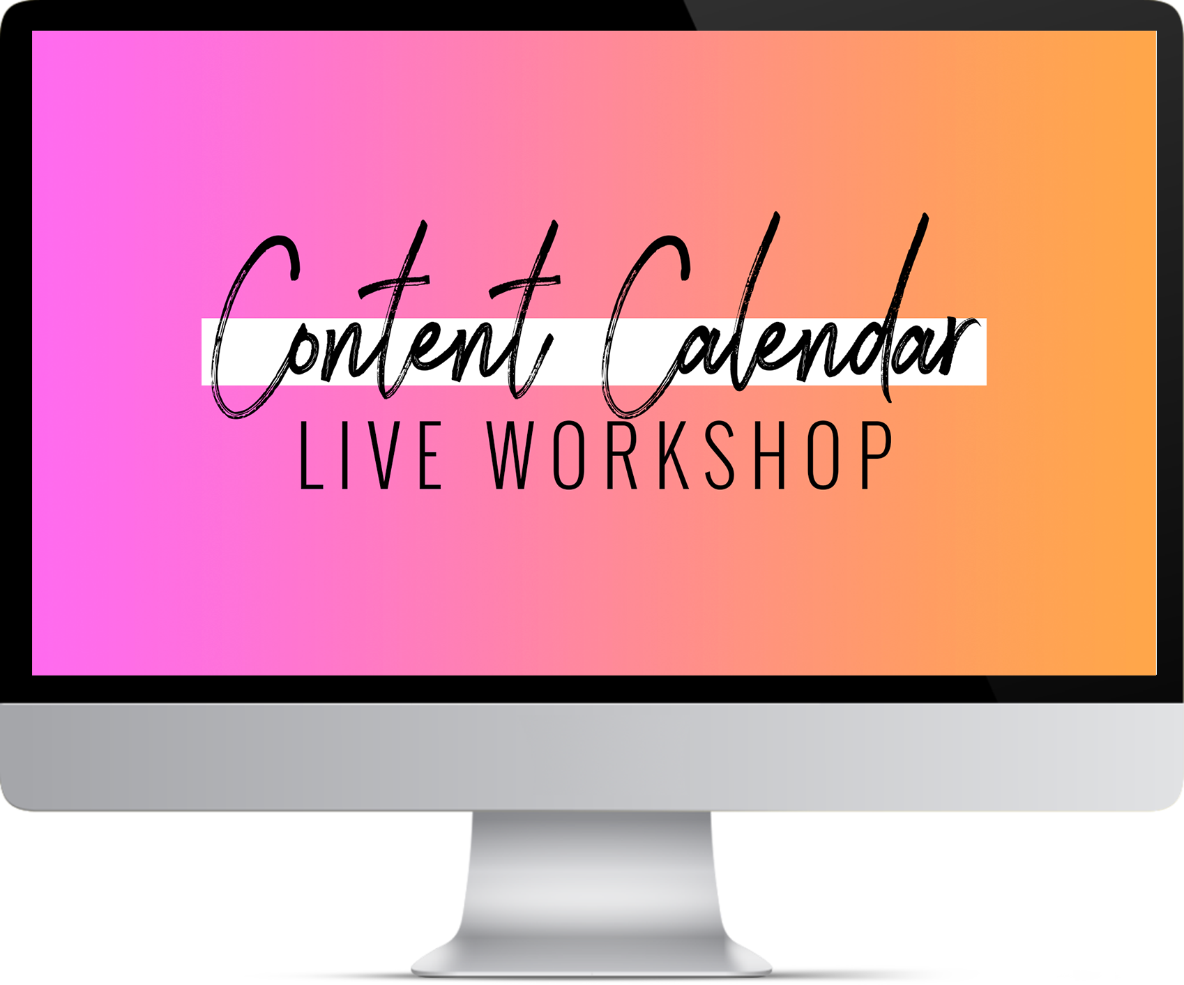 If you thought these videos and assignments were helpful, I'd love to invite you to join my  LIVE Content Calendar Workshop on Tuesday, April 24th .    You'll walk away from this workshop with your entire month of May's social posts planned out  (and equipped with the knowledge and resources needed to duplicate this process every month moving forward).