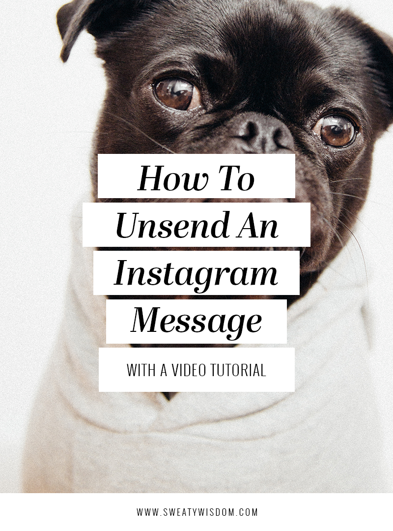 How to Add Unsend an Instagram Message | Instagram Hacks – Instagram tips -  Instagram for Business – How to Use Instagram – Social Media - sweatywisdom.com