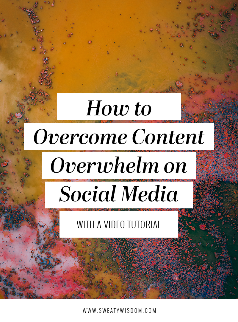 How to Overcome Content Overwhelm on Social Media   Blogging, Instagram, and FacebookTips