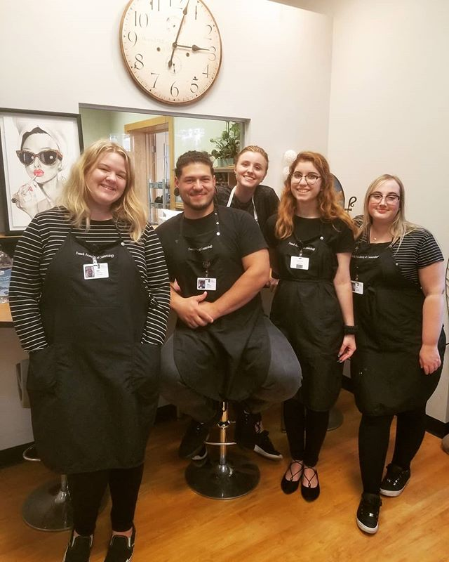 Just a few of French Academy's awesome students! Come join us! Classes starting soon! #cosmetology #cosmetologyschool #beauty #cosmetologystudent #makeup #esthetician #nailtech #hair #skincare #manicure #pedicure