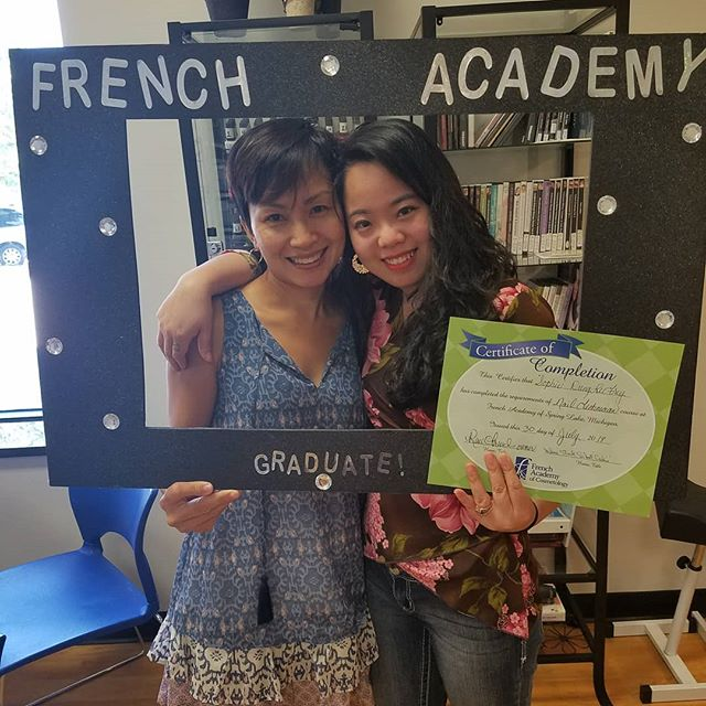 2 amazing ladies! #nailtechs #besties #frenchacademyofcosmetology #frenchacademy #fac #beautyschool #cosmetology #coslife #springlake