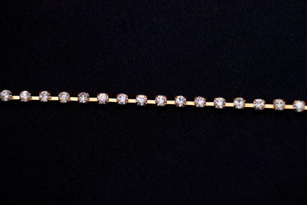 4mm Diamante Gold