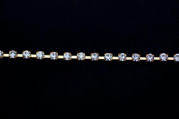 5mm Diamante Gold