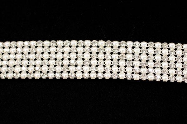 Pearl & Diamante belt trim