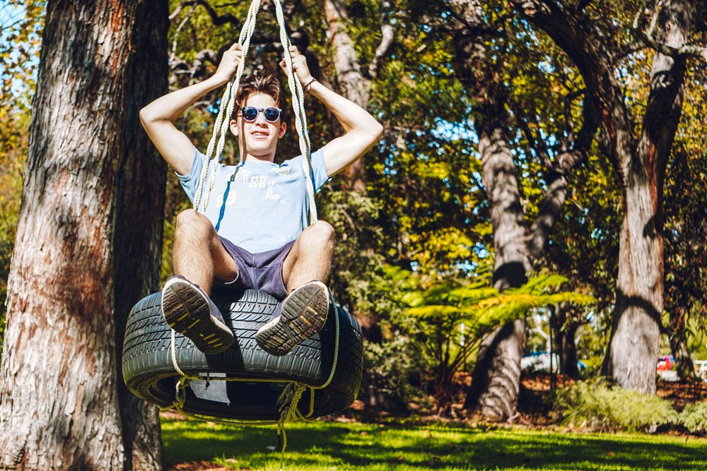 Wonder toward Winthrop Avenue and you will find our swing!