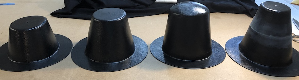 Some of the hat blocks we purchased.