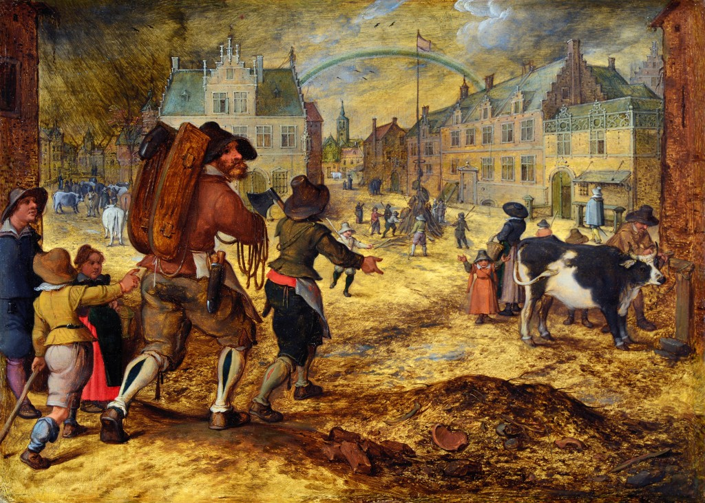 The Cattle Market, attributed to Sebastian Vrancx.