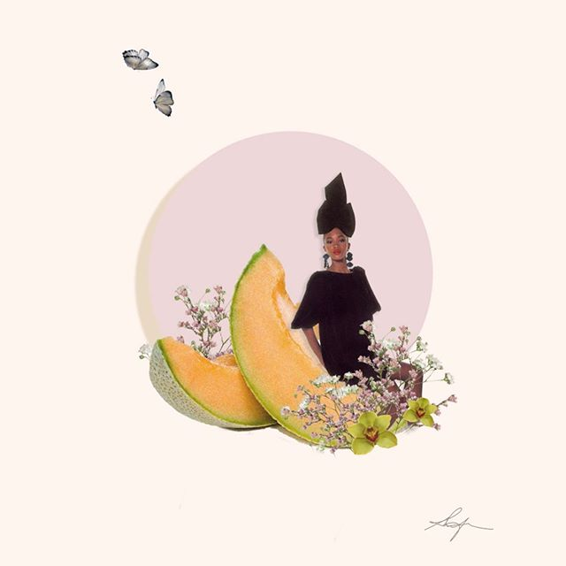the last of the work from my naomi inspired week. love the spring. everything is buzzing and wild and juicy and free and tender 🌸 . . . . . . #adobe #photoshop #create #creative #art #digitalart #fruit #spring #edit #design #color #insta #instagram