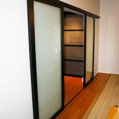 TAKING ANOTHER LOOK AT THE DOOR  Bedroom doors are built for privacy, but traditional swing doors can often get in the way when space is tight. Consider using sliding doors as an alternative – they're bound to make an impact.