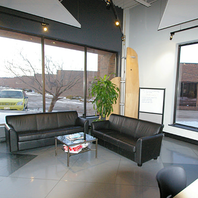 PLEASANT IS GOOD  Entrances and office spaces don't have to be stuffy!Clean fluid lines, comfortable waiting areas and an inviting work environment are great ways to help you make your statement.