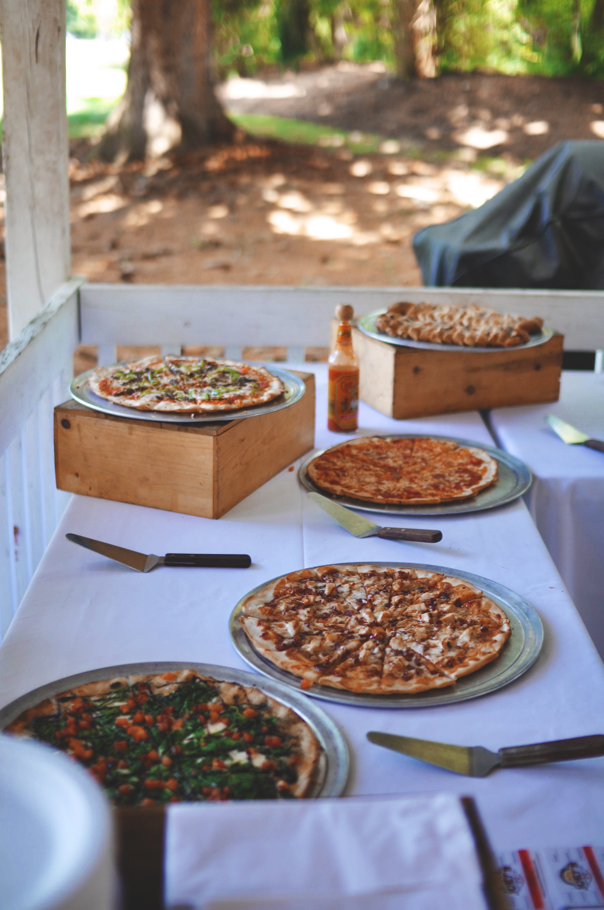 Catering by  Chef Tony's Wood Fire Pizzas