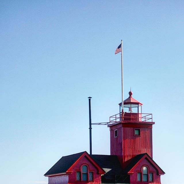 Holland Harbor Light House. #bigred #lighthouse #puremichigan