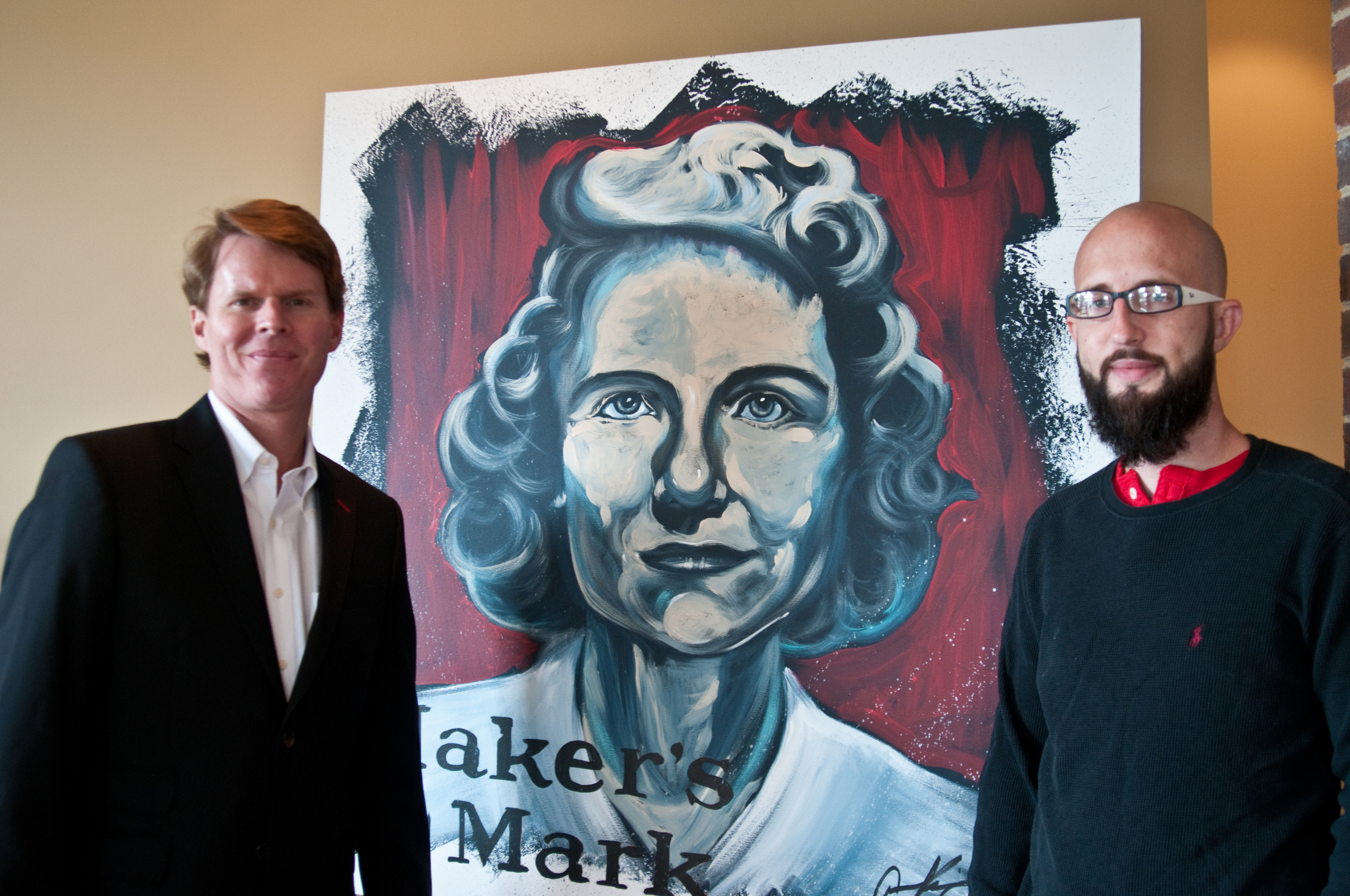 Aaron Kiser , an Owensboro painter, was commissioned to paint live during the Hall of Fame Luncheon. Congratulations to  Maker's Mark !