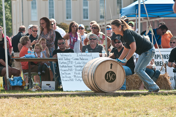 The Great Barrel Race is a good time to see the distilleries show off their muscle. The barrels each weigh 500 pounds!