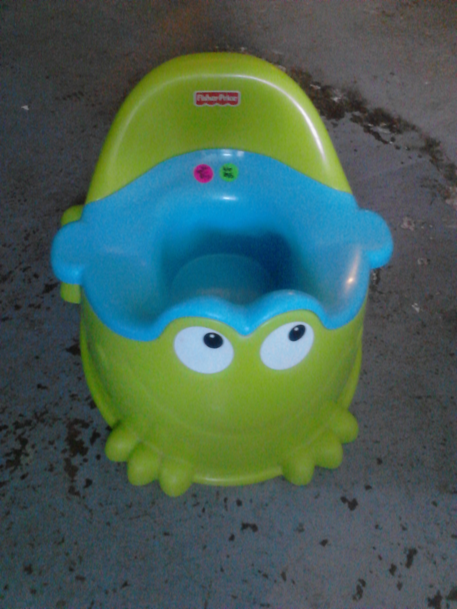 Example number one:: a potty. I was having a yard sale. The potty is long gone. WHY DID I KEEP THIS PICTURE OF A POTTY? It's going to the trash. Please, do this for your sanity and someone's sanity one day. GET RID OF THE POTTY PICTURE so they don't have to look through them all!