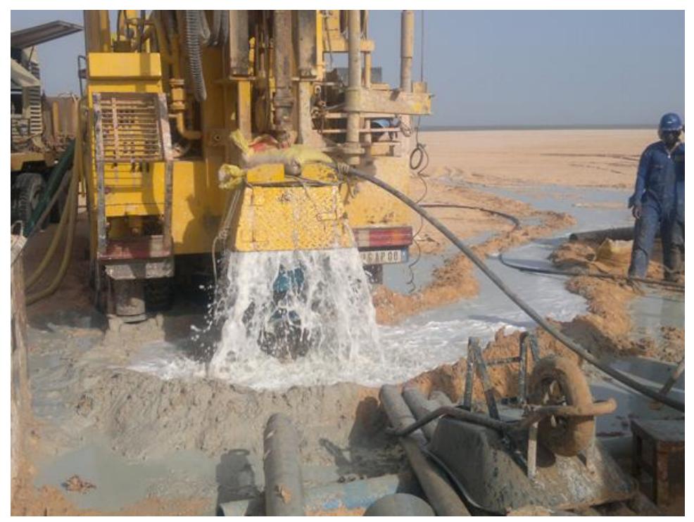 Well development in Mauratania